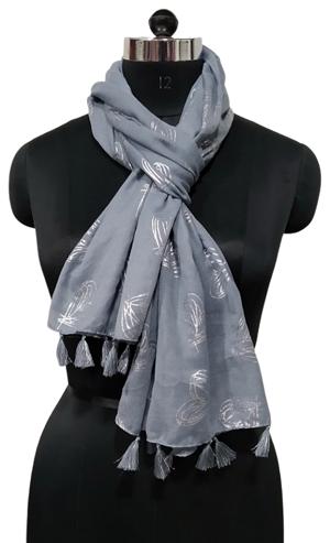 foil printed large scarf