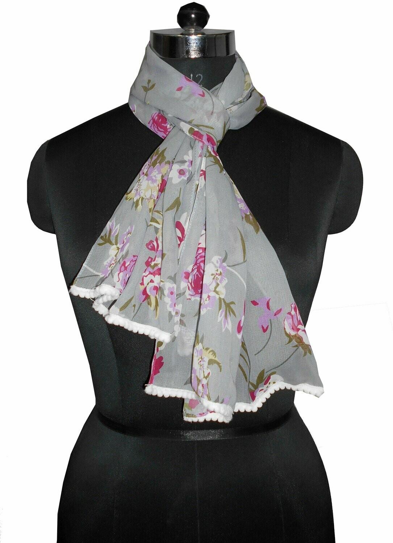 chiffon printed scarf