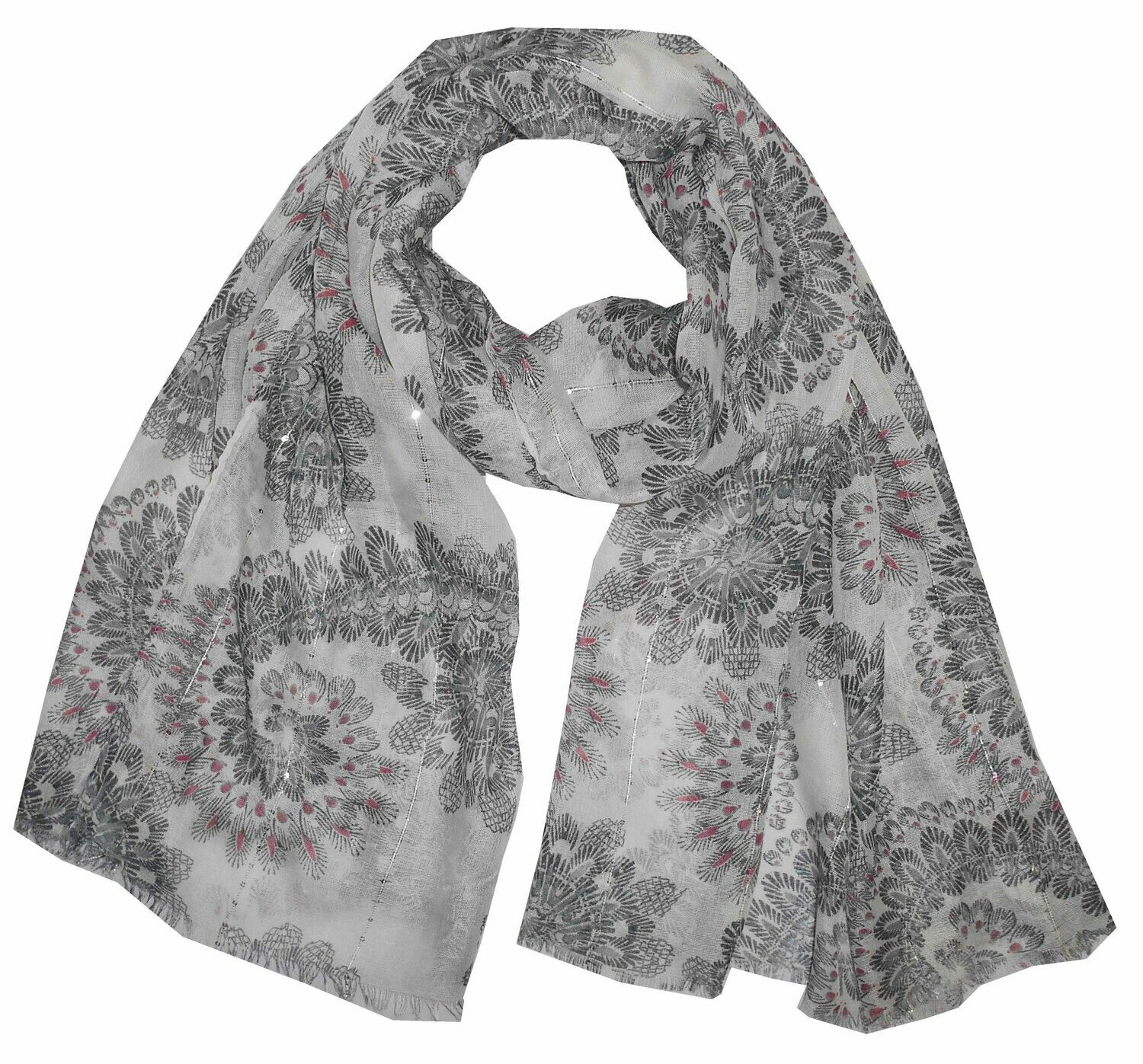 Printed Large scarves in sequins fabric