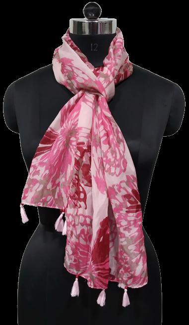 Printed Scarves with Tassels