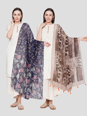 Printed Large Scarves in Combo offer