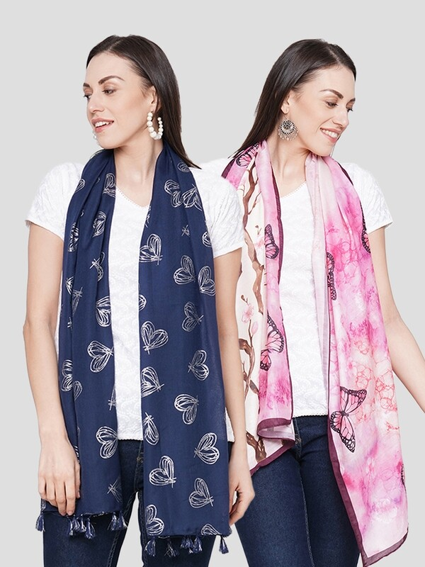 Digital Printed Scarves in Combo offer