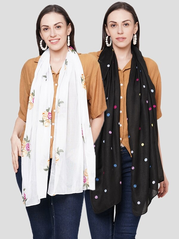 Embroidered Scarves in combo offer