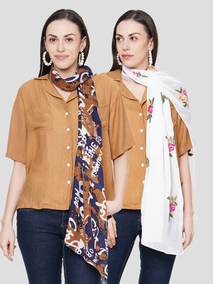 Printed & Embroidered Scarves