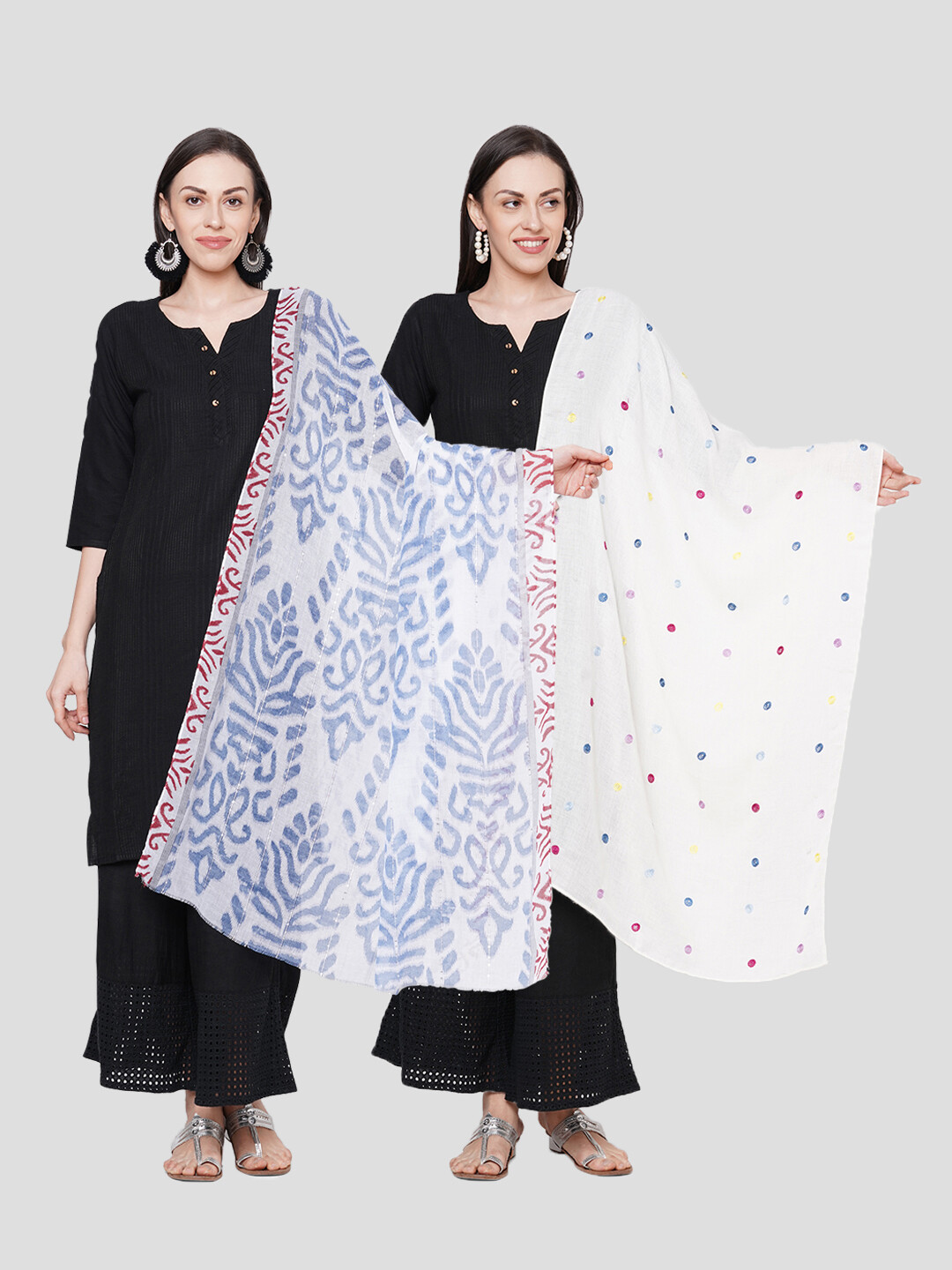Printed & embroidered Large Scarves