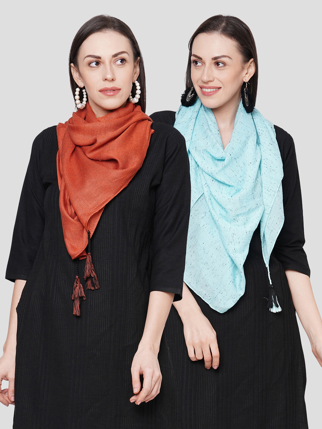 Self Design Large Scarves in Combo offer