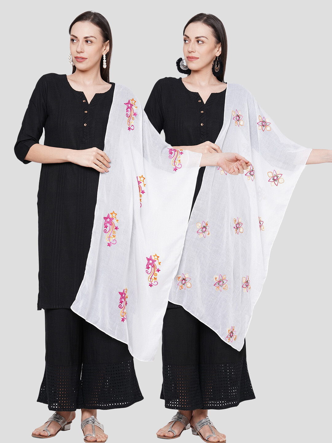 embroidered Large Scarves in combo offer