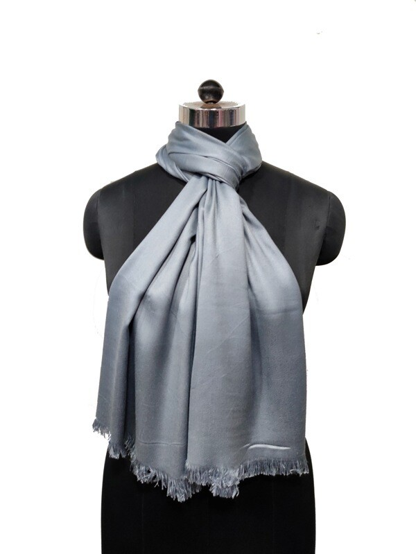 Super soft Satin Scarf with raw fringes