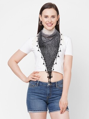 Get Wrapped Hand Made Shaded Crochet Triangle scarf