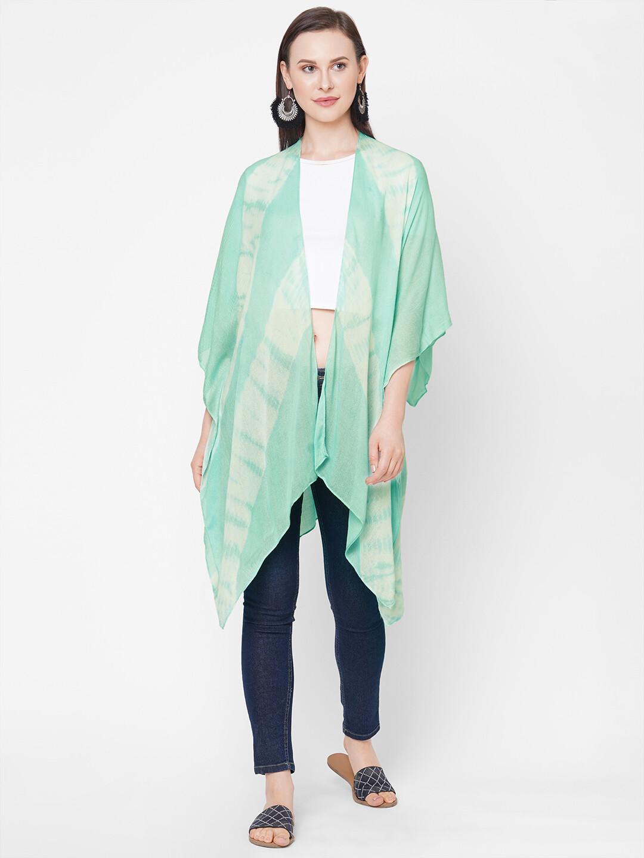 Get Wrapped Elegant Tie-Dye Kimono Free Size