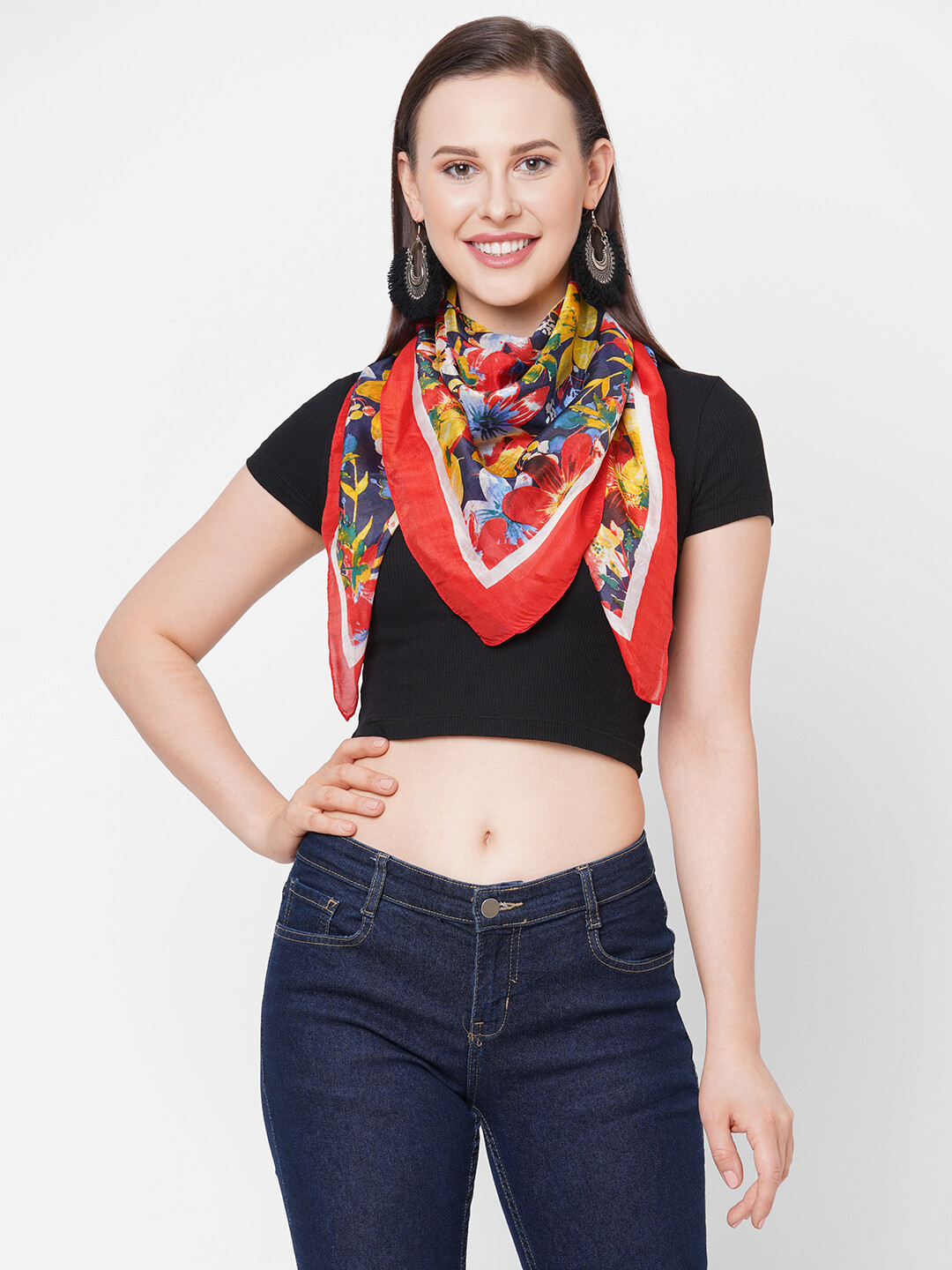 Get Wrapped Soft Silk Square Scarf