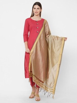 Fancy border Dupattas with Embroidery