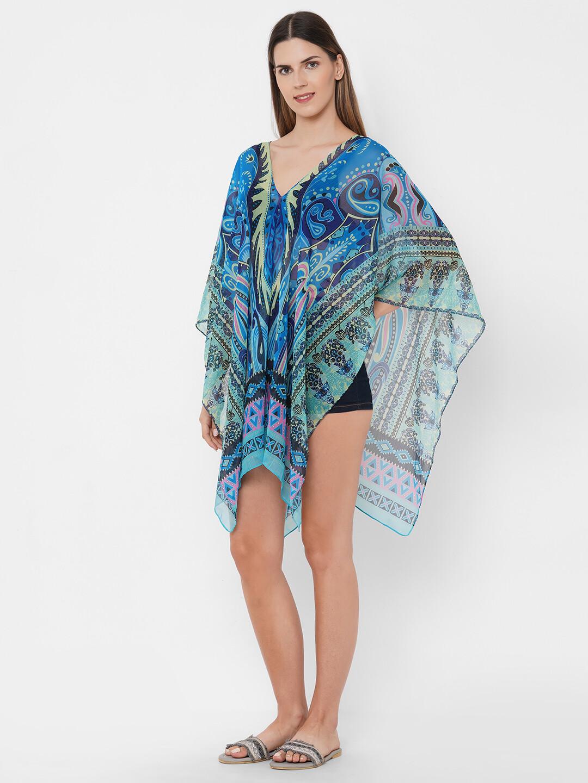 Get Wrapped Printed Polyester Women Kaftan