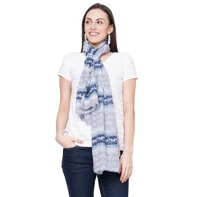 Printed Large Scarves with Tassels