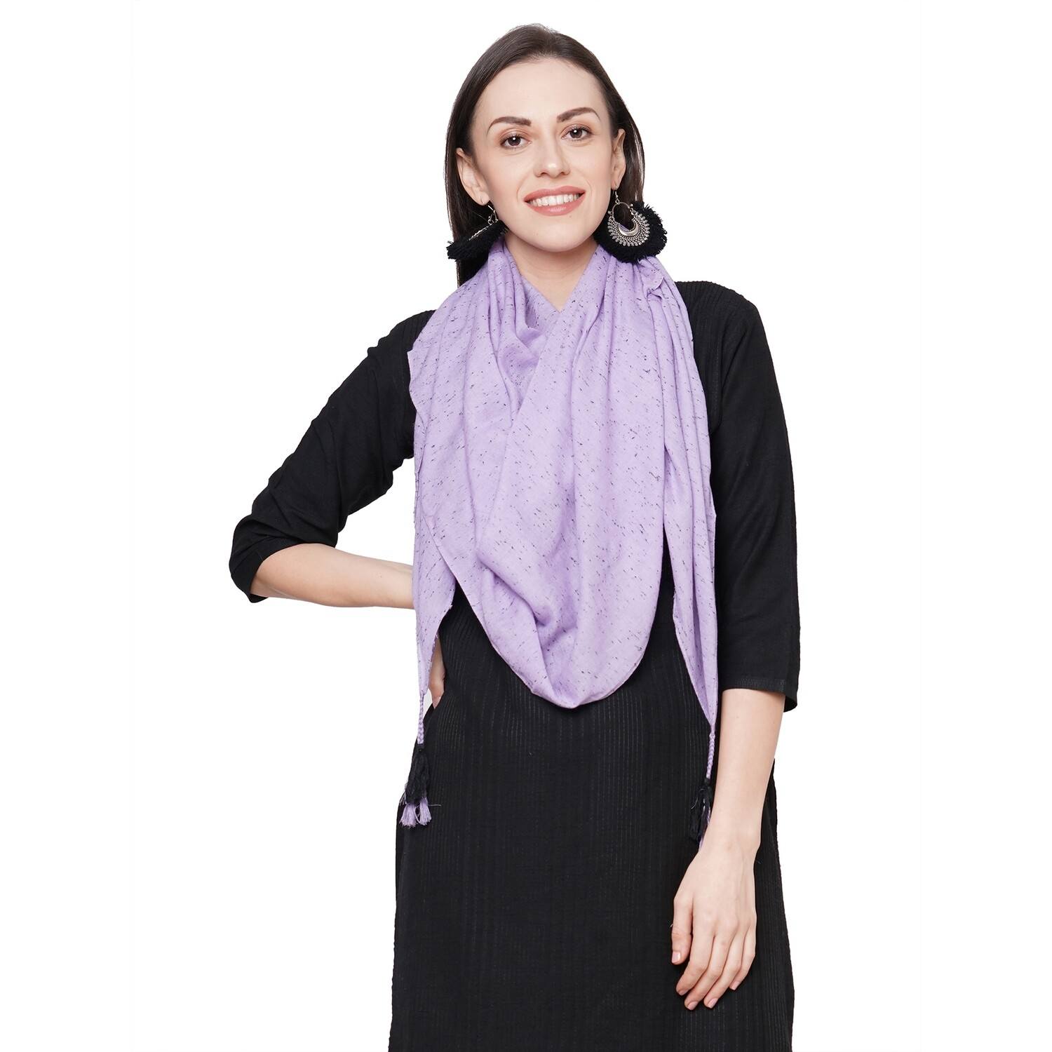 solid dyed fancy stole