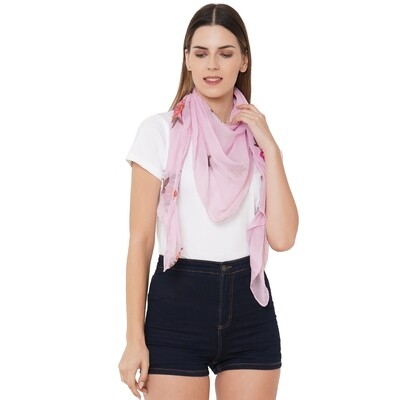 All Embroidered Scarves in soft feel fabric