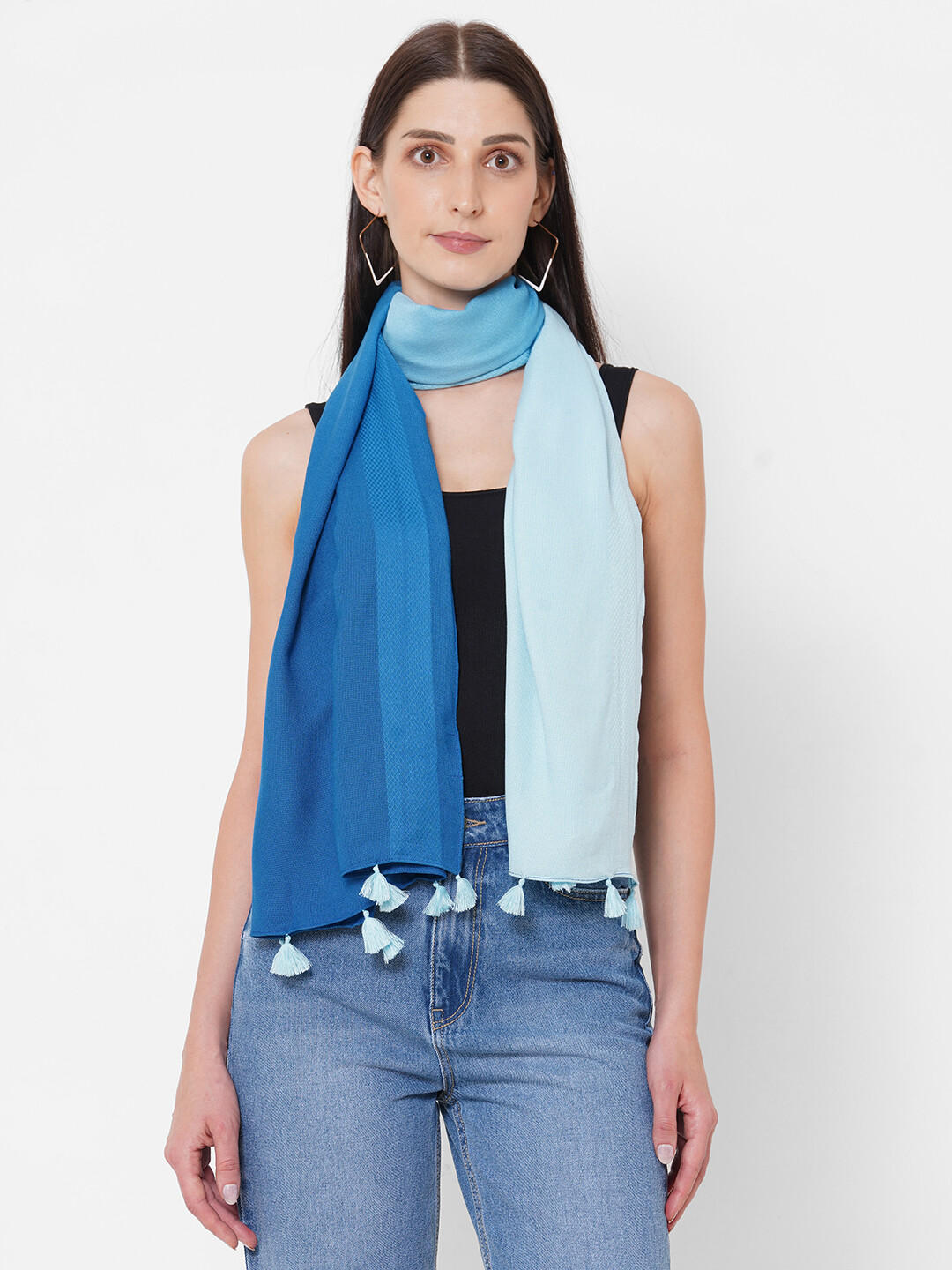 Shaded Scarves with Dobby Border and Tassels