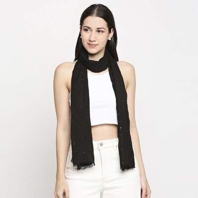 Elegant soft feel scarves with sequins weave