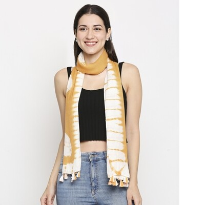 Tie-Dye Scarves in Rayon fabric with tassels.