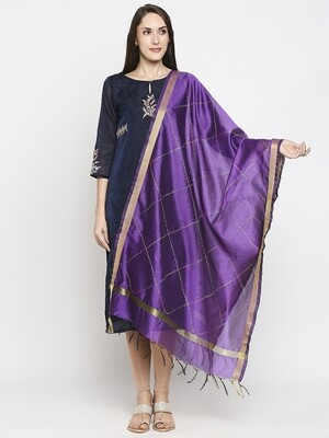 Fancy border Dupattas with All over Embroidery