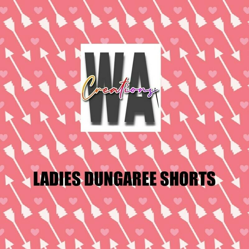 Ladies Dungaree Shorts