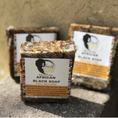 RAW AFRICAN BLACK SOAP (SOLID)