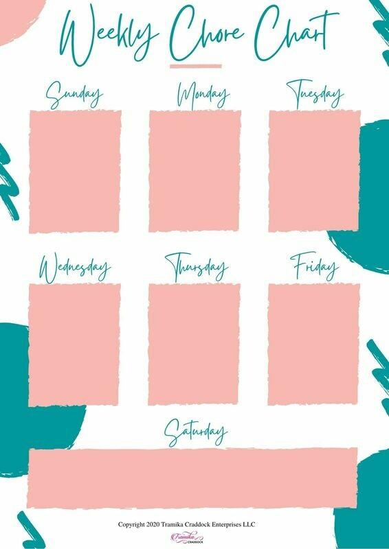 Mom's Weekly Chore Chart