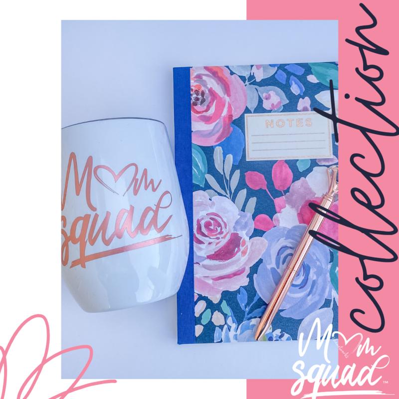 Mom Squad Wine Tumbler/Notebook Set