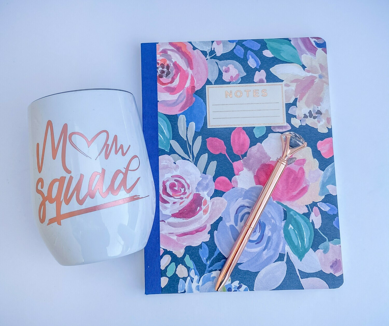 Mom Squad Wine Tumbler/Notebook Set