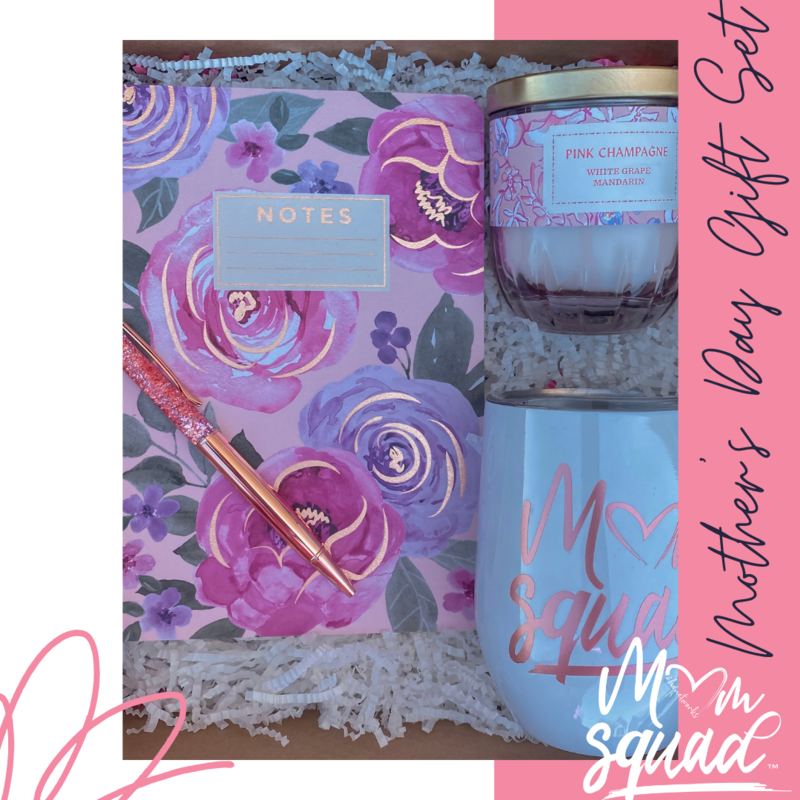 Mom Squad Wine Tumbler Gift Set