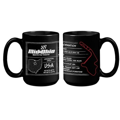 Mid-Ohio Coffee Cup - Black