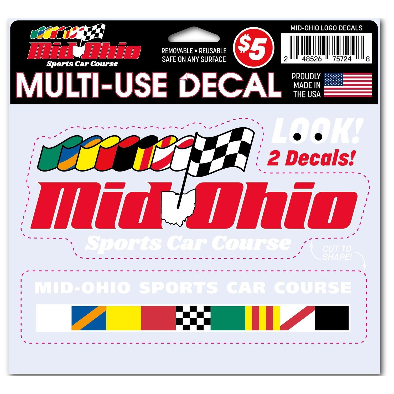 Mid-Ohio Logo Decals - Multi-Use