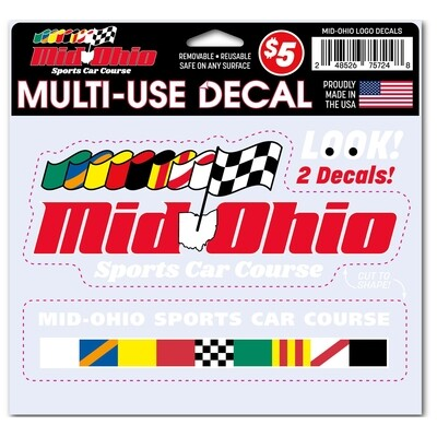 Mid-Ohio Logo Decals - Multi-Use