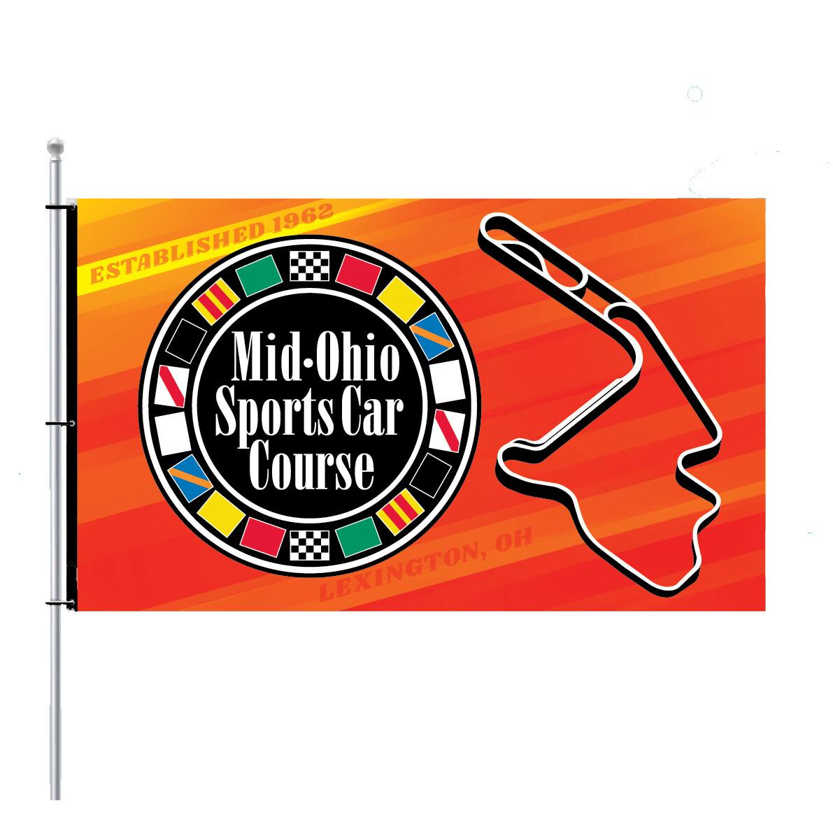 Mid-Ohio Flag - Circle & Track/Multi-color