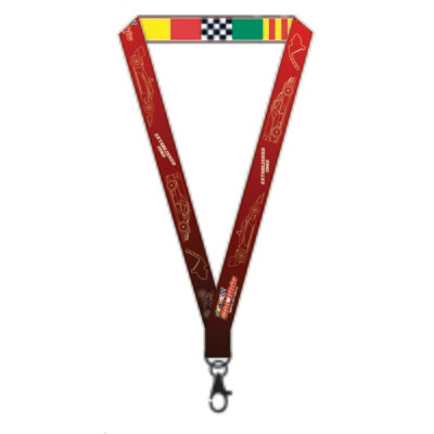Mid-Ohio Lanyard - Cars & Flags/Red