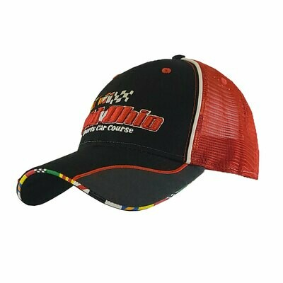 Mid-Ohio & Multi Flags Hat - Black/Red/Grey