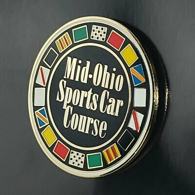 Mid-Ohio Lapel Pin - Circle/Cloisonne