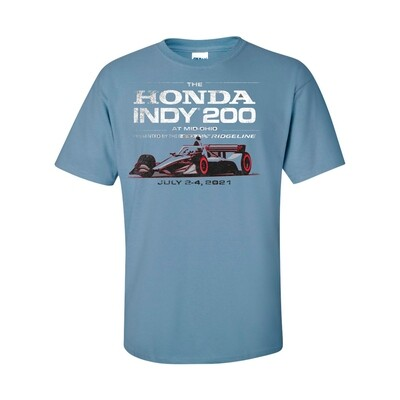 21' Indy Distressed T-Blue