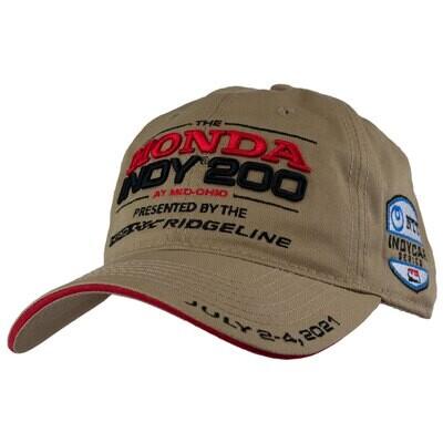 21' Indy Dad Hat-Khaki