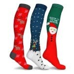 Holiday Fun Knee High Compression Socks - Reindeeer