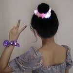 LED Luminous Hair Scrunchies - Purple