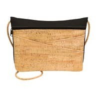 Be Lively Small Messenger - Rustic Cork - Black