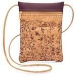 Be Lively Cork Mini Cross Body Bag Wine Floral Print