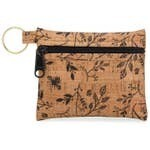 Be Organized Key Chain - Cork - All Black Floral Print
