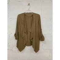 Women's Cardigan w/Buttons Sleeveless - Beige Medium