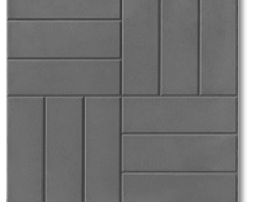 Тротуарная плитка 12 кирпичей 500х500х50