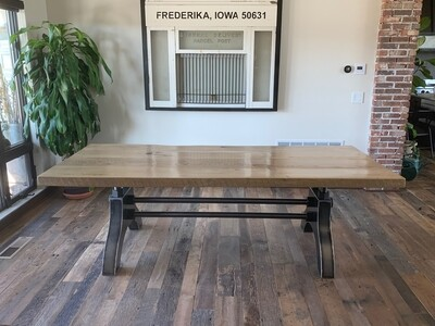 Double Threaded Industrial Dining Table