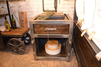 Single Drawer Industrial Night Stand