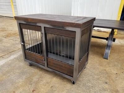 Medium Industrial Rolling Barn Door Dog Kennel