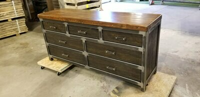 7 Drawer Industrial Dresser